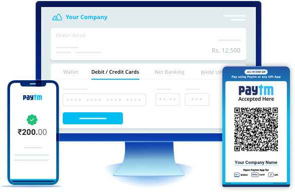 Payment Gateway, QR Code Payments, Payment Links, Invoices
