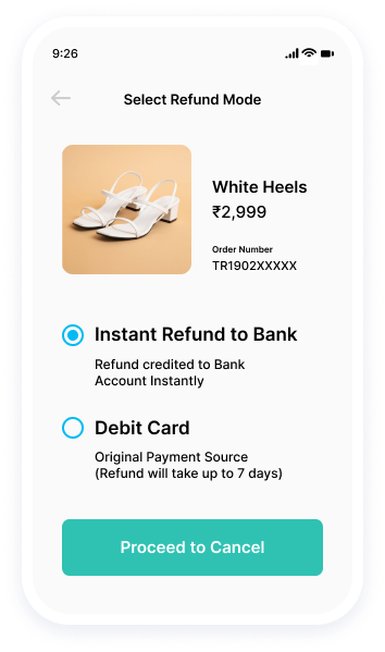 Preferred refund destination