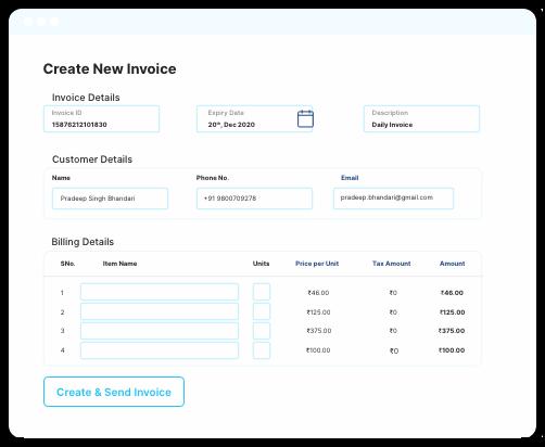 create invoices