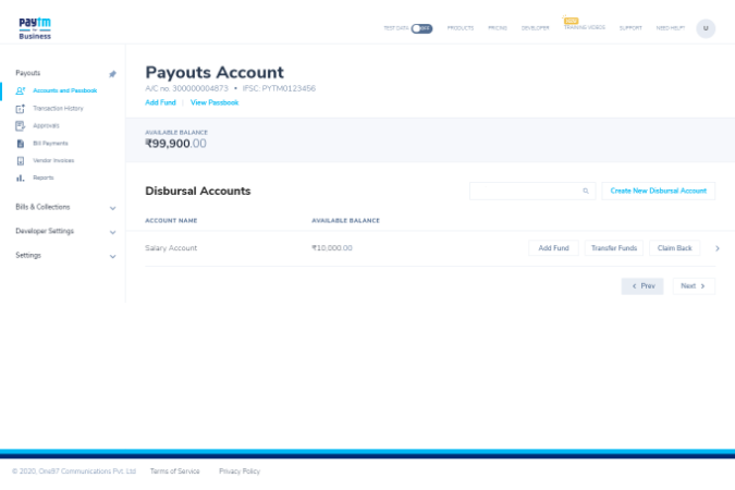 Paytm Payout